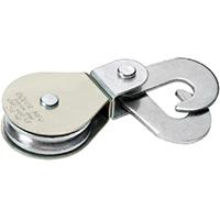Deuer DB25HS Swivel Eye Scissor Hook Block, 1/4 in, 550 lb, Steel, Bright Zinc Plated