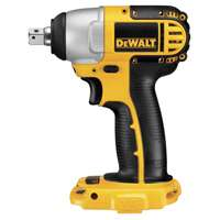 Dewalt DC820B Heavy Duty Cordless Impact Wrench, 18 V, Li-Po, Ni-Cd, 0 - 2700 bpm