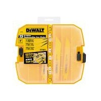Dewalt DW4890 Bi-Metal Reciprocating Saw Blade Set, 15 Pieces