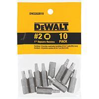 Dewalt DW2202B10 Insert Bit, NO 2, Square Recess, Tool Steel