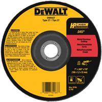 DeWalt DW8427 Type 27 Cutting Wheel, 7 in Dia X 1/16 in T, A60T Grit, 7/8 in Arbor
