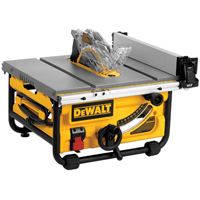 Dewalt DWE7480 Table Saw, 120 V, 15 A, 2 hp, 10 in Blade, 4800 rpm