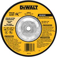Dewalt DW8437 Type 27 High Performance Grinding Wheel, 7 in Dia x 1/8 in T, A24R Grit