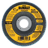 DeWalt DW8311 Coated High Performance Type 29 Flap Disc, 4-1/2 in, 36 Grit, 5/8-11 Arbor