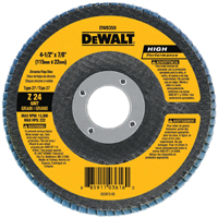 DeWalt DW8300 Coated High Performance Type 27 Flap Disc With Hub, 4 in, 36 Grit, 5/8 in Arbor