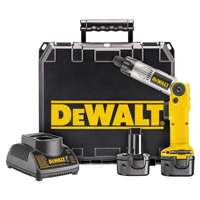 Dewalt DW920K-2 Adjustable Inline Cordless Screwdriver Kit, 7.2 V, Ni-Cd, 1.7 Ah, 1/4 in