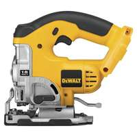 Dewalt DC330B Heavy Duty Cordless Jig Saw, 18 V, Ni-Cd, 2.4 Ah, 1 in Stroke, 0 - 3000 spm
