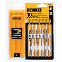Dewalt DW3744C Jig Saw Blade Set, 10 Pieces, Universal Shank
