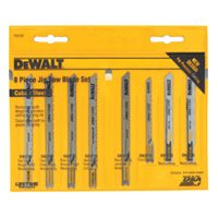 Dewalt DW3790 Jig Saw Blade Set, 8 Pieces, Universal Shank