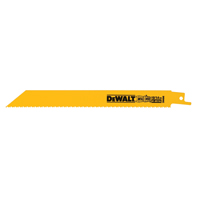 Dewalt DW4846B Bi-Metal Straight Reciprocating Saw Blade, 8 in L x 5/8 in W, 10/14 TPI