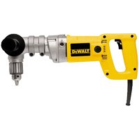 Dewalt DW120K Heavy Duty Right Angle Corded Drill Kit, 120 V, 7 A, 580 W, 1/2 in Keyed Chuck