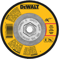 Dewalt DW4548 Type 27 Depressed Center Fast Cutting Grinding Wheel, 7 in Dia x 1/4 in T, A24N Grit