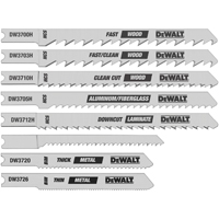Dewalt DW3792H Jig Saw Blade Set, 8 Pieces, Universal Shank
