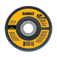 DeWalt DW8357 Coated High Performance Type 27 Flap Disc, 4-1/2 in, 60 Grit, 5/8-11 Arbor