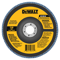 DeWalt DW8353 Coated High Performance Type 27 Flap Disc With Hub, 4-1/2 in, 80 Grit, 7/8 in Arbor