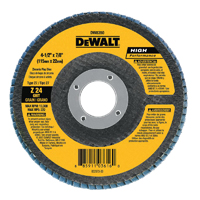 DeWalt DW8356 Coated High Performance Type 27 Flap Disc, 4-1/2 in, 40 Grit, 5/8-11 Arbor