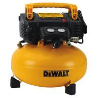 Dewalt DWFP55126 Pancake Compressor, 0.9 hp, 6 gal, 165 psi, 3.7 scfm at 40 psi, 2.6 scfm at 90 psi