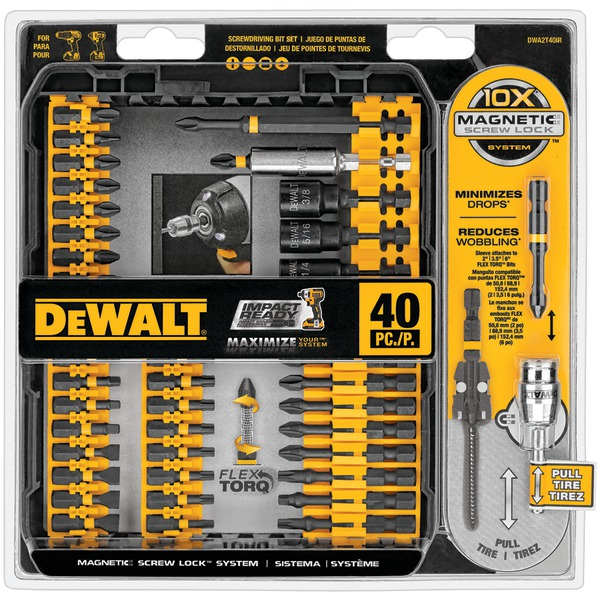 DEWALT DWA2T40IR 40-Piece Impact Ready Screwdriver Set