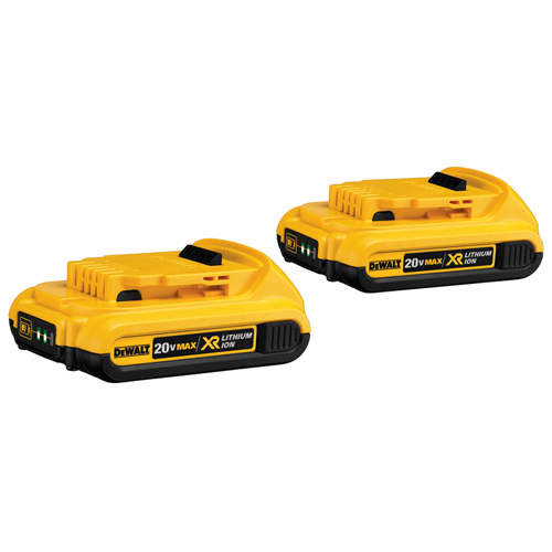 20 VOLT MAX COMPACT XR LITHIUM ION, 2 PACK