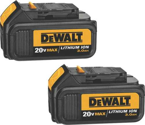 20 VOLT MAX LITHIUM ION BATTERY PACK 3.0 AH, 2 PACK