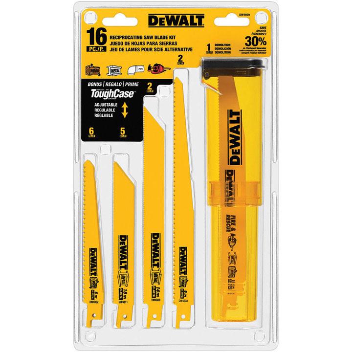 DeWalt 16 Pack Reciprocal Saw Blade Set (Tower)
