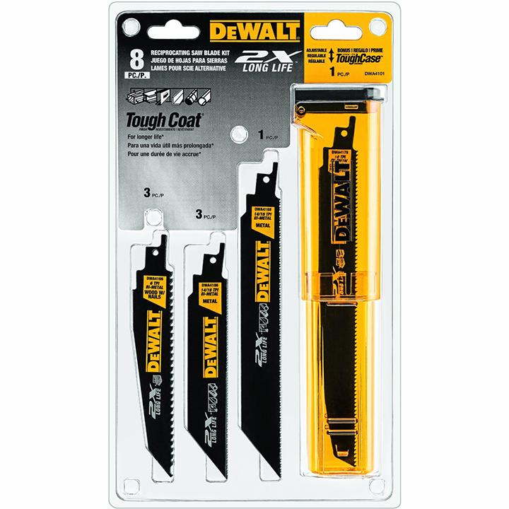 DeWalt Bi-Metal 2X Reciprocating Saw Blade Set 8-Pc.