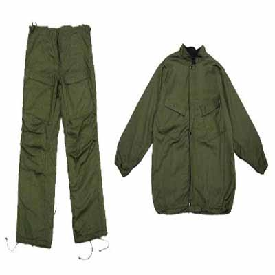 "GREEN MILITARY ""CHEMICAL SUIT"" EXTRA SMALL (1060)"