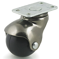 DH Casters CH15P2AB Metal Hooded Ball Caster, 1-1/2 in Dia, 90 lb, Rubber, Antique Brass