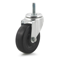 DH Casters C-LM4T3RS Light/Medium Duty Swivel Caster, 4 in Dia X 1-1/4 in W, 265 lb, Rubber