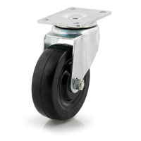 DH Casters C-LM5P1RS Light/Medium Duty Swivel Caster, 5 in Dia X 1-1/4 in W, 300 lb, Rubber