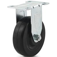 DH Casters C-LM Light/Medium Duty Rigid Caster, 5 in Dia X 1-1/4 in W, 300 lb, Rubber