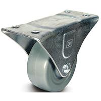 DH Casters C-GD General Duty Non-Marking Rigid Caster, 2 in Dia X 15/16 in W, 125 lb, Rubber
