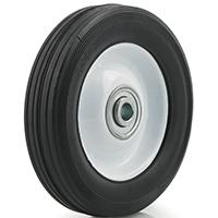 DH Casters W-MH06112B4W Medium Duty Hub Wheel, 6 in Dia X 1-1/2 in W, 120 lb, Rubber