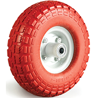 DH Casters W-NF Light/Medium Duty Pneumatic Wheel, 10 in Dia