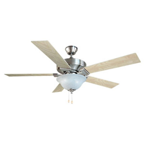"Ironwood 52"" 5-Blade Energy Star Ceiling Fan, Redwood or Light Maple Blades, Satin Nickel"