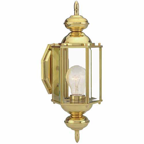 Augusta Outdoor Uplight, 5.5-Inch by 14.375-Inch, Solid Brass