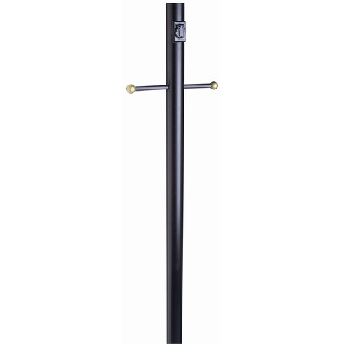 Outdoor Lamp Post with Cross Arm, 80-Inch by 3-Inch, Black