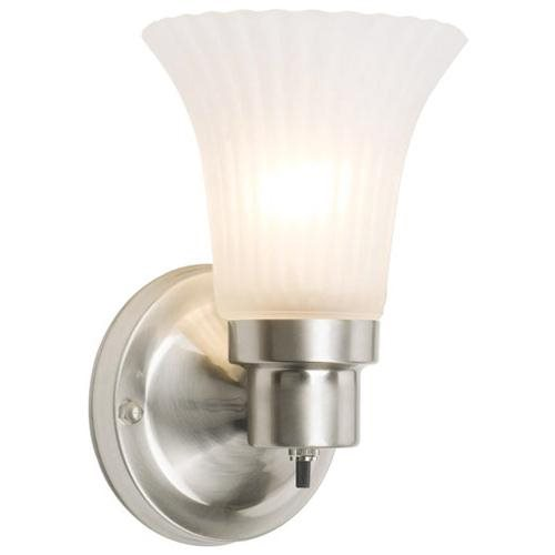 The Village 1-Light Wall Sconce, Satin Nickel