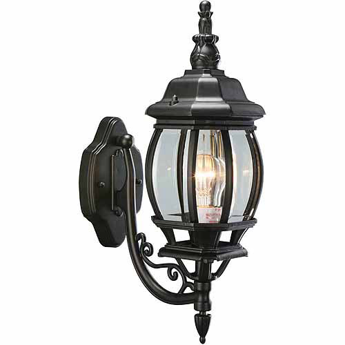 Canterbury Outdoor Uplight, 6.38-Inch by 20.5-Inch, Black Die-Cast Aluminum