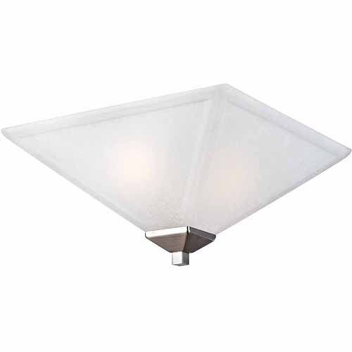 Torino 2-Light Flush Mount Ceiling Light, Satin Nickel