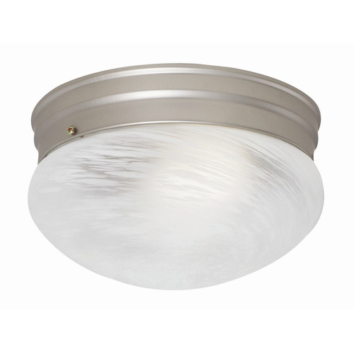 1-Light Fluorescent Round Ceiling Mount, White