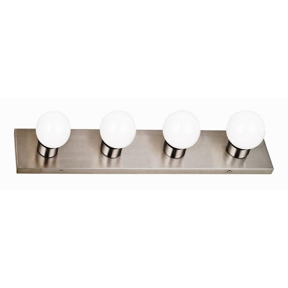 4-Light Vanity Wall Sconce, Satin Nickel