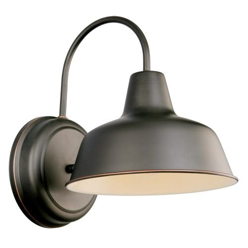 Mason Outdoor Downlight, 8.375-Inch by 11-Inch, Oil Rubbed Bronze