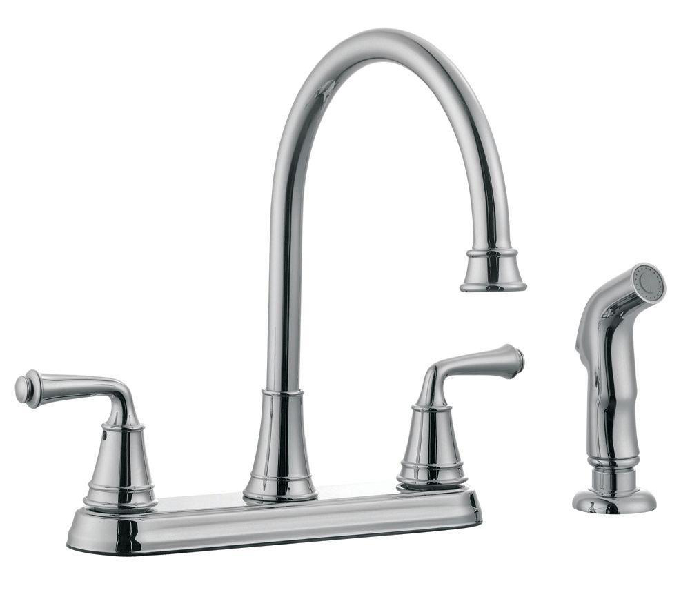 Eden Kitchen Faucet with Sprayer, Polished Chrome