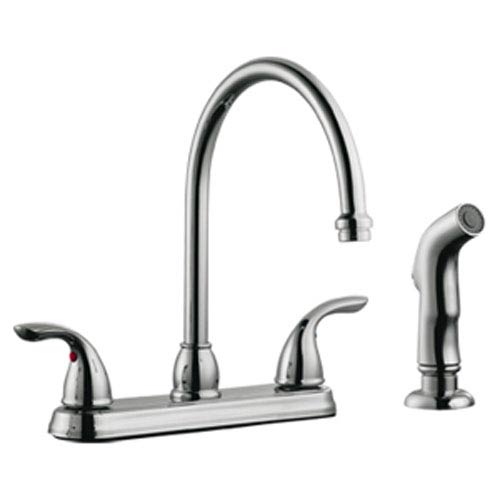 Ashland High Arch Kitchen Faucet with Sprayer, Polished Chrome
