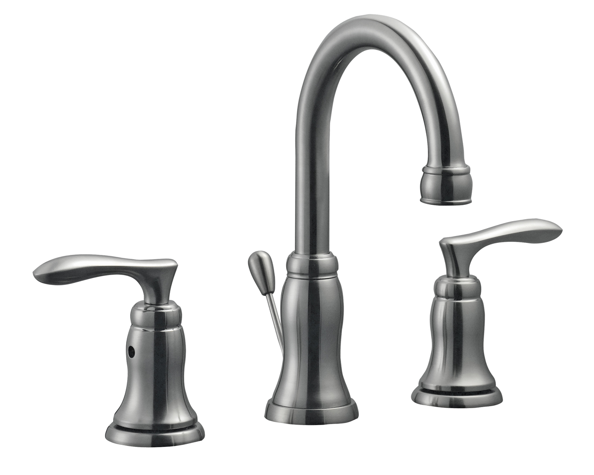 Madison Wide Spread Lavatory Faucet, Satin Nickel