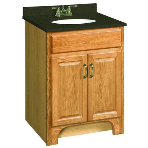 "Richland Nutmeg Oak Vanity Cabinet with 2-Doors, 24"" by 21"""