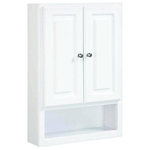 Concord White Gloss Wall Bathroom Cabinet with 2-Doors and 1-Shelf