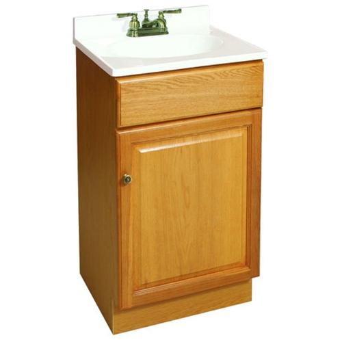 "18""x16"" Claremont 1-Door Vanity, Honey Oak"