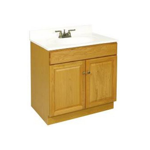"Claremont Honey Oak Vanity Cabinet with 2-Doors, 30"" by 18"" by 31.5"""